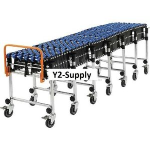 New Portable Flexible Expandable Conveyor nylon Skate Wheels 24 Wide