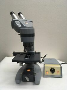 American Optical Spencer Model 1036a Microscope With Power Supply Tested