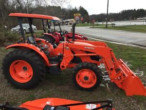 Used Kubota M6060 In Excellent Cond 4wd W front Loader Hydroshuttle Trans