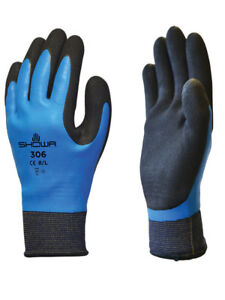 Showa 306 Foam Latex Grip Waterproof Gloves Breathable Liner M xl 12 Pair