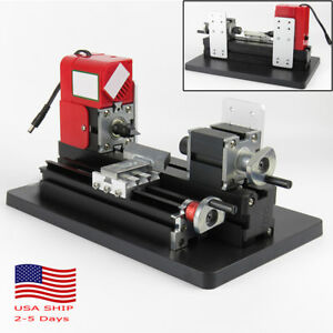 Motorized Mini Metal Lathe Machine Turning Woodworking Working Teaching Diy Tool