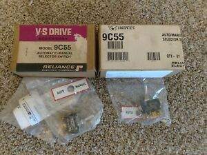 lot Of 2 Reliance Electric 9c55 Auto manual Selector Switch New Sealed Bag