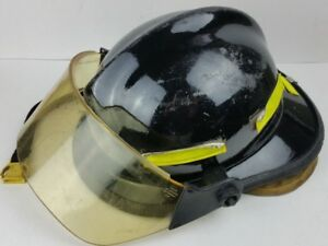 Cairns B mod Firefighter Helmet With Face Shield Black Turnout Gear