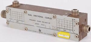 Hp Agilent 767d Industrial Rf Frequency 1900 4000 Mc Dual Directional Coupler