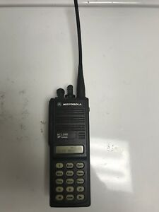 Motorola Mts2000 Model Iii Radio H01uch6pw1bn With Battery And Antenna Tested