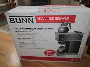 Bunn 12 Cup Commercial Coffee Brewer With 2 Decanters Item 33200 0001