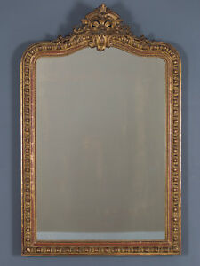 Antique French Louis Philippe Mirror R Gence Cartouche France Circa 1880