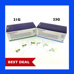 21g 23g Bd Vacutainer Butterfly Safety Needle W Lure Adapter 12 Tubing Combo