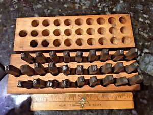 1 8 Vintage Young Brothers Letter Punch Set Steel Die Stamp steam Punk