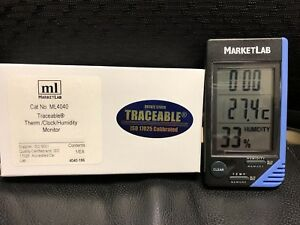 Marketlab Ml4040 Traceable Thermometer clock humidity Monitor