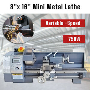 8 X 16 750w Variable speed Mini Metal Lathe Bench Top Digital Top