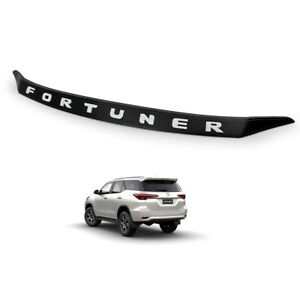 Front Bonnet Hood Line Cover Trim Black White For Toyota Fortuner 2016 2018