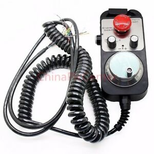 Cnc Pulse Generator 4 Axis Mpg Pendant Handwheel Emergency Stop Manual Pulse