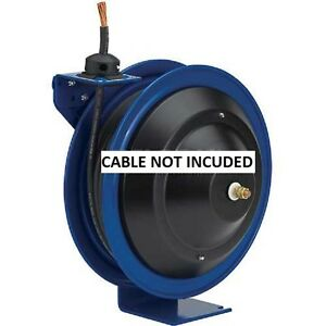 New Spring Rewind Welding Cable Reel 35 6ga Cable Capacity Less Cable