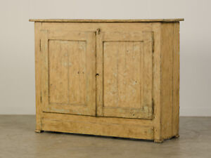 Antique French Painted Buffet Bas D Armoire Credenza France Circa 1830