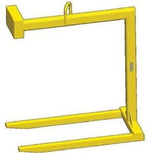 New Fixed Bale Lift Pallet Lifter 2000 Lb Capacity tracking Chip