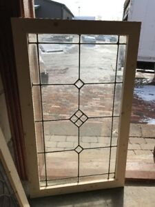 Sg2224 Antique Beveled And Leaded Glass Window 24 3 8 X40 25