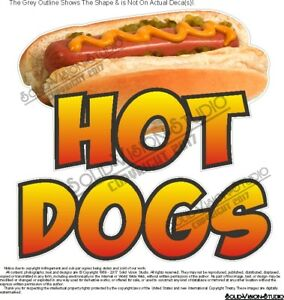 Hot Dog Photo Concession Trailer Food Truck Restaurant Cart Sign Menu Decal