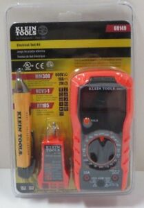 Klein 69149 Electrical Test Kit Mm300 Multimeter Ncvt 1 Tester Receptacle Tester