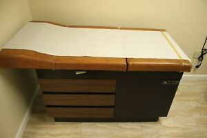 Ie Medical 104 Exam Table Adjustable Flexible W stirrups Drawers Unit 2