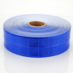 Blue Gloss Reflective Tape Pvc Sew On Material Clothes Cap Bags Width 2