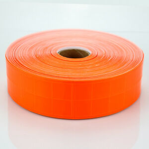 Orange Gloss Reflective Tape Pvc Sew On Material Clothes Cap Bags Width 2
