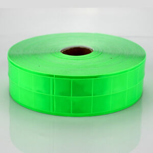 Green Gloss Reflective Tape Pvc Sew On Material Clothes Cap Bags Width 2