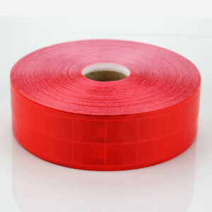 Red Gloss Reflective Tape Pvc Sew On Material Clothes Cap Bags Width 2