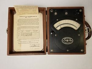 vintage Antique Weston Model 341 Ac Voltmeter 1952 Test Equipment Steampunk