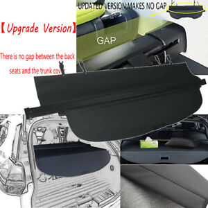 Trunk Cargo Shade Cover Black Updated Version For Nissan Rogue 2014 2017 Rear