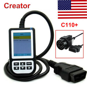 New Creator C110 Obd2 Code Reader Diagnostic Tool 20pin Cable For Bmw Us