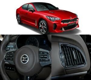 Crystal Steering Wheel Airconditioner Jewelry Decal Sticker For Kia Stinger 2018