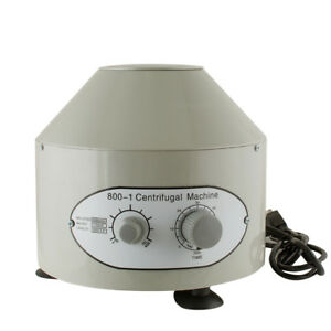 Electric Centrifuge Machine Lab Medical Practice 800 1 4000rpm W 6x 20ml us