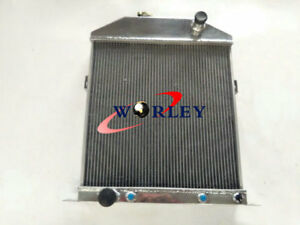 56mm Aluminum Radiator For Ford Mercury Coupe Car Ford V8 1942 1948 43 44 46 47