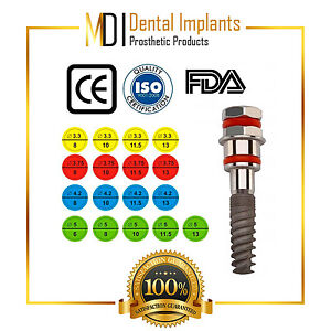 25 Mdi Spiral Dental Implant 25 Dental Abutment Internal hex System Sterile No3