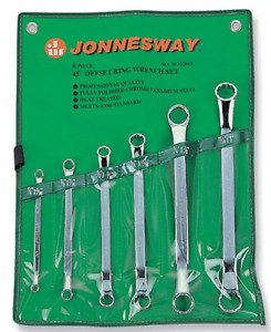 Jonnesway W32206s Pcs 45 Offset Ring Wrench Set Standard 1 4 1