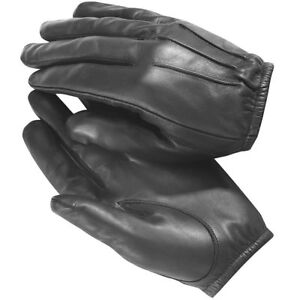 made with Kevlar Black Leather Gloves Security SIA Police Security $14.99
