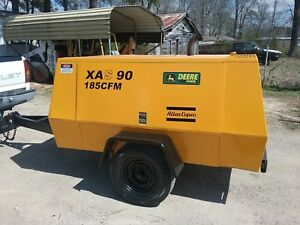 Atlas Copco Xas90jd Towable 185cfm Air Compressor low Hours refurbished