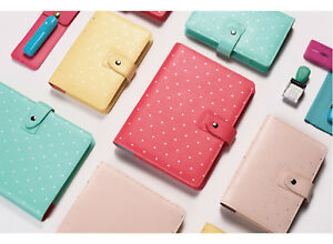 Faux Leather Planner Agenda For Filofax Cover Binder Macaron Notebook 2019 A5a6