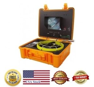 Sewer Drain Pipe 10 Color Lcd 1 Inspection Camera 130 Ft Cable 512hz Sonde Usb