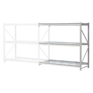 Extra High Capacity Bulk Rack With Wire Decking Add on Unit 72 w X 18 d X