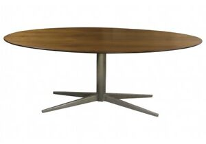 Vintage Period Mid Century Modern Walnut Conference Dining Table 50854