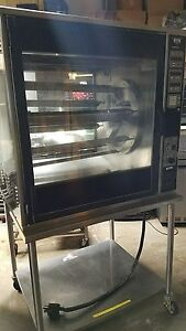 Used Electric Henny Penny Rotisserie Oven Scr 8 With Spits And Stand