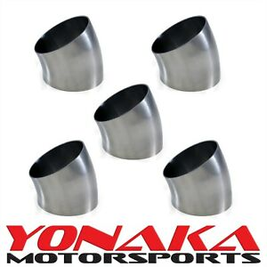 Yonaka 2 5 Polished 304 Stainless Steel 30 Degree Short Tight Radius Bend Elbow