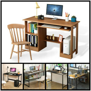 Computer Desk Pc Laptop Table Workstation Study Home Office Wood Furniture J
