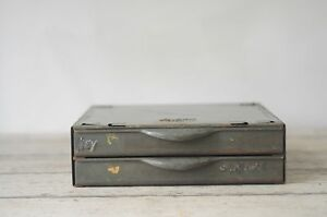 Vintage Equipto Industrial Metal Drawers Industrial 2 Drawerparts Cabinet