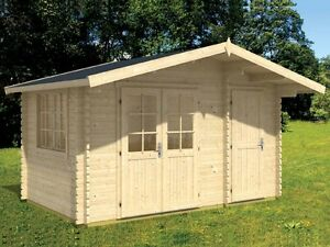 13 x13 Bzb Log Cabin Kit And Shed 104 Sq ft Cabin And 51 Sq ft Storage