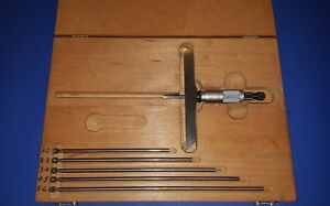 Starrett 0 6 Depth Gage Starrett 445 Depth Micrometer 5 Base