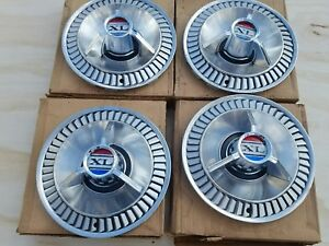 Nos 1964 Ford Galaxie Xl 14 Hubcaps C4az 1130c Set Of 4 Ford Boxes