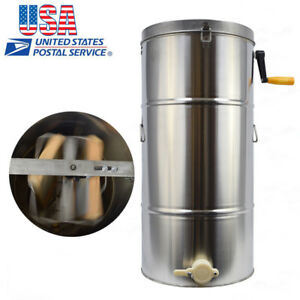 Usa Honey Extractor 2 Frame Ss Bee Keeper Supply Honey Bee Beekeeping Machine